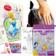 Sacolinha Surpresa Cinderela  Elástico de Cabelo Princesas Disney