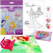 Sacolinha  Surpresa  Sereia Ariel com Piranha de Cabelo Princesas Disney + 4 Itens