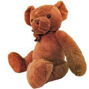Urso de Pelúcia com Laço Altura 30 Cm Ursinho Fofy