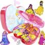 100 Mini Adesivos + Porta Adesivos Cinderela Princesas Disney - OMEGA TOYS
