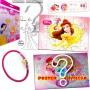 Sacolinha Divertida  Bela com Elástico de Cabelo Princesas Disney - OMEGA TOYS