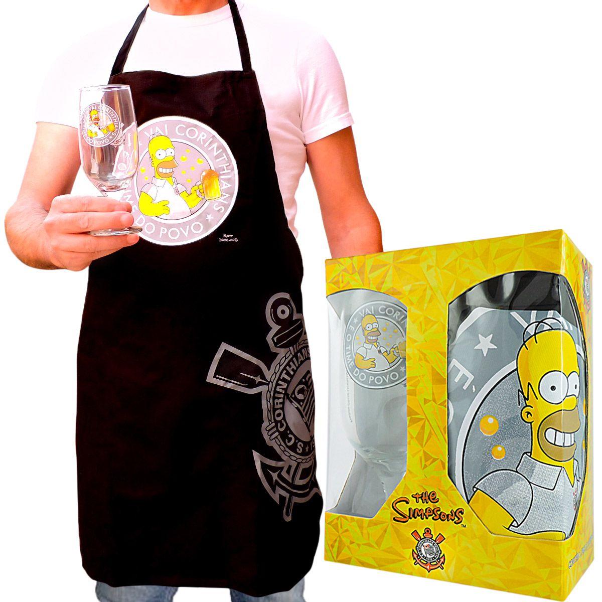 Avental com Taça Homer Simpsons Corinthians Timão