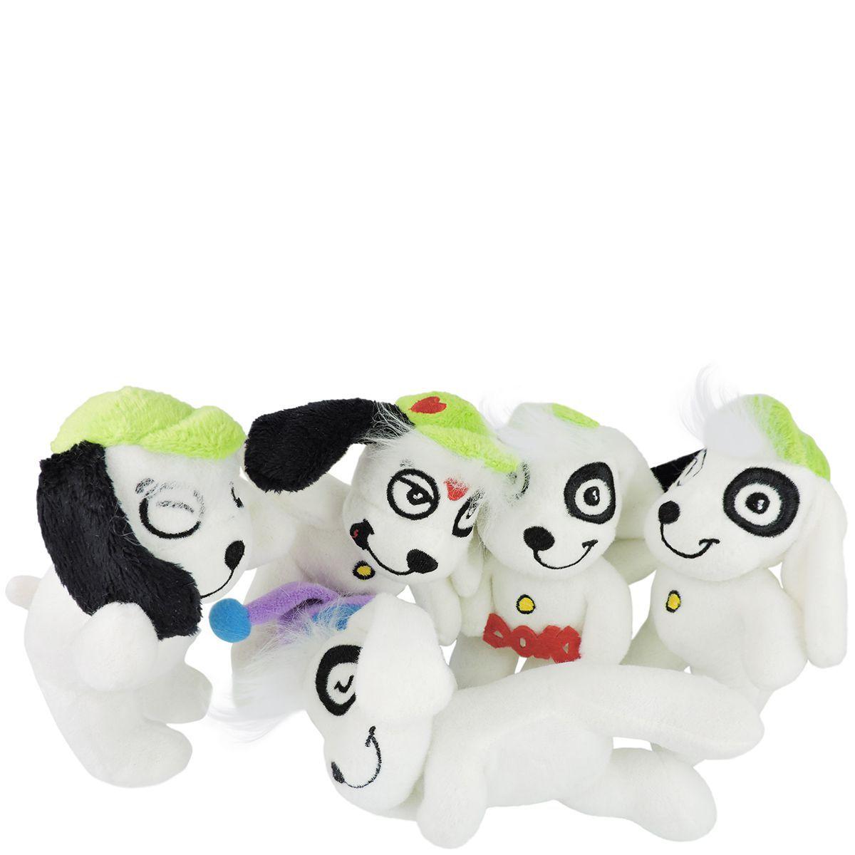 Coleção 5 Bonecos De Pelúcia Cachorro Doki Discovery Kids