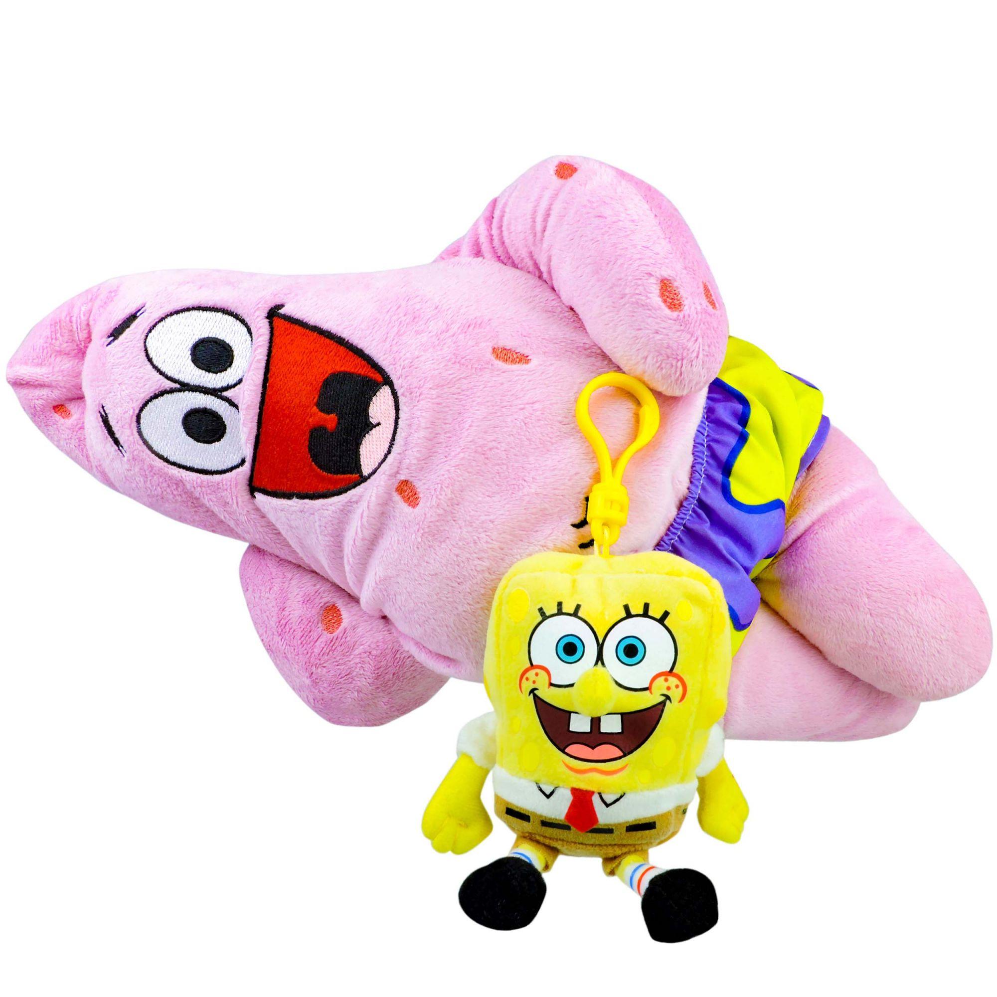Boneco De Pelúcia Patrick E Bob Esponja Chaveiro Nickelodeon