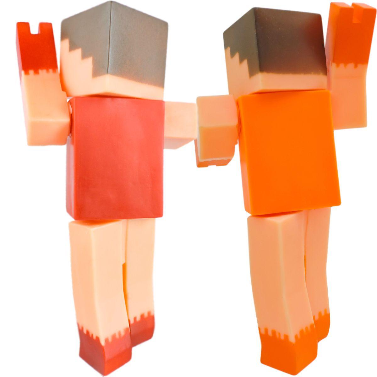 Coleção 2 Bonecos Super Blocks Articulados Adijomar
