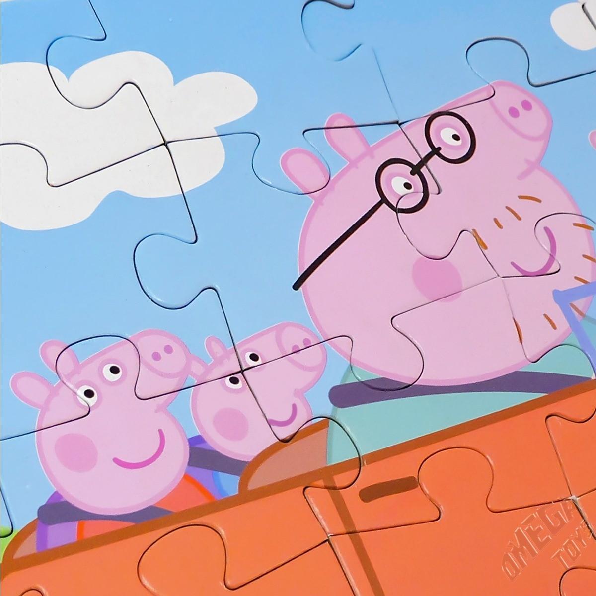Coleção com 2 Quebra Cabeças de 30 Peças para Pintar Peppa Pig Toyster