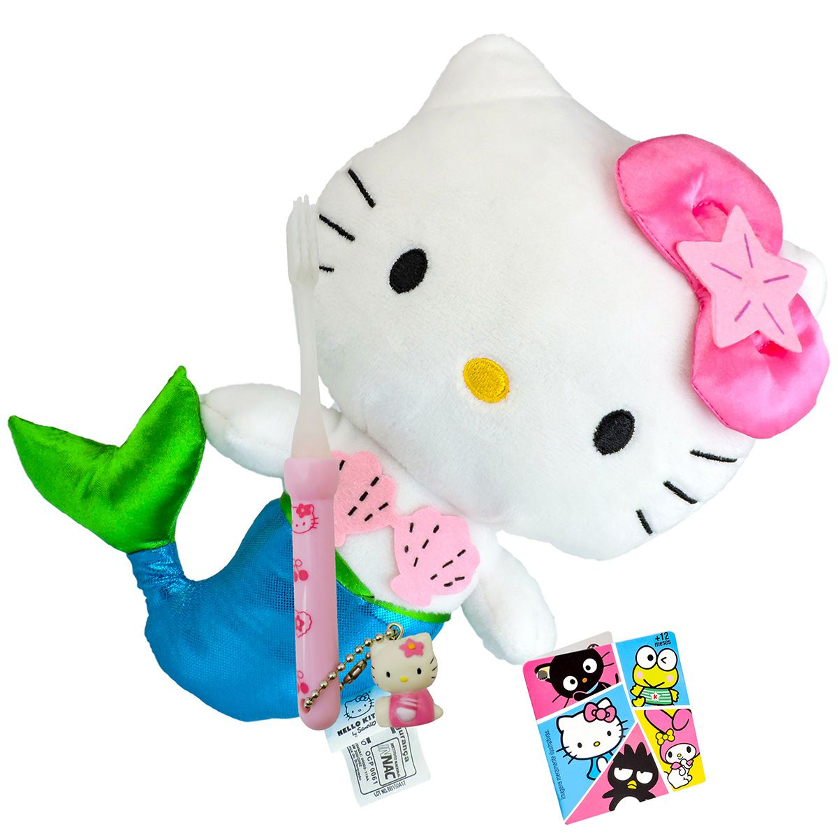 Hello Kitty Sereia Boneca de Pelúcia Sanrio Dtc Mais Escova