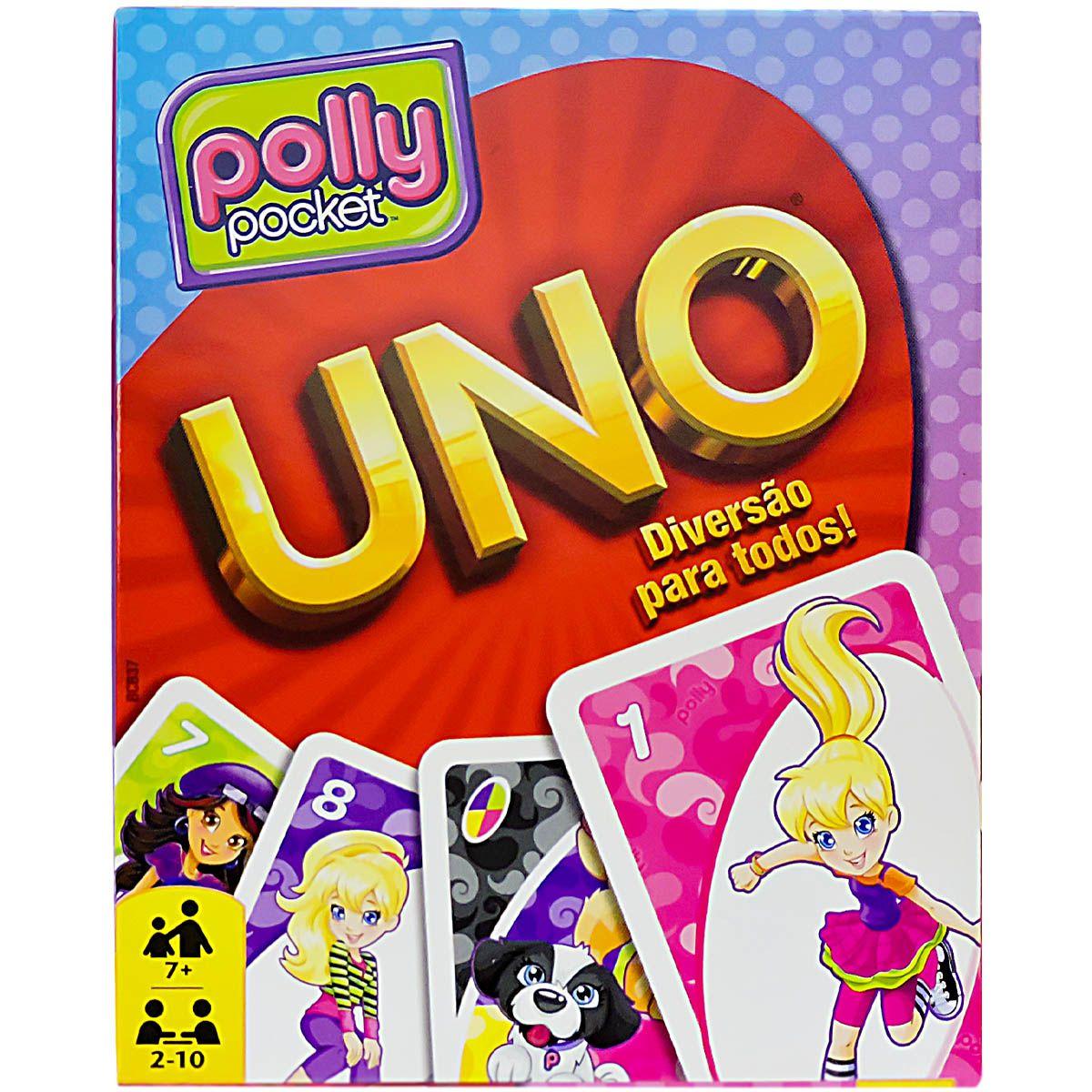 Jogo Uno Barbie e Polly Coleção com 2 Jogos Mattel