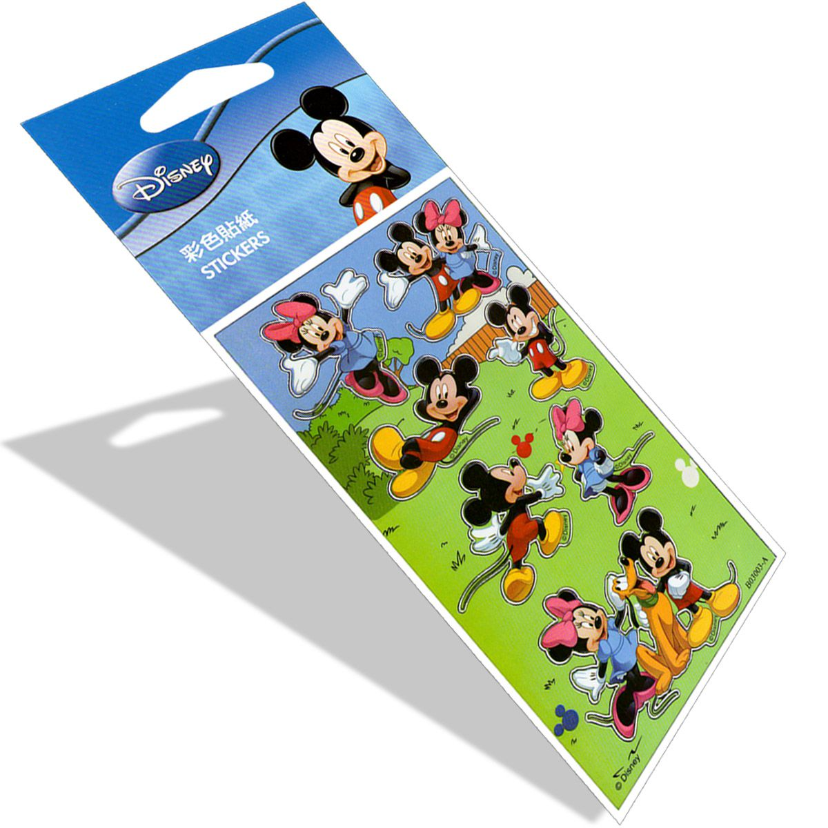 Kit Com 10 Cartelas de Adesivos Mickey e Minnie Disney