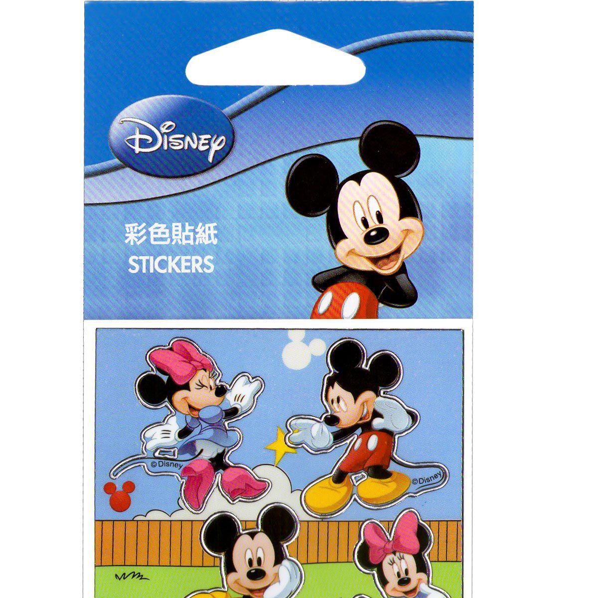 Kit Mickey Com 10 Cartelas de Adesivos Mickey e Minnie Disney
