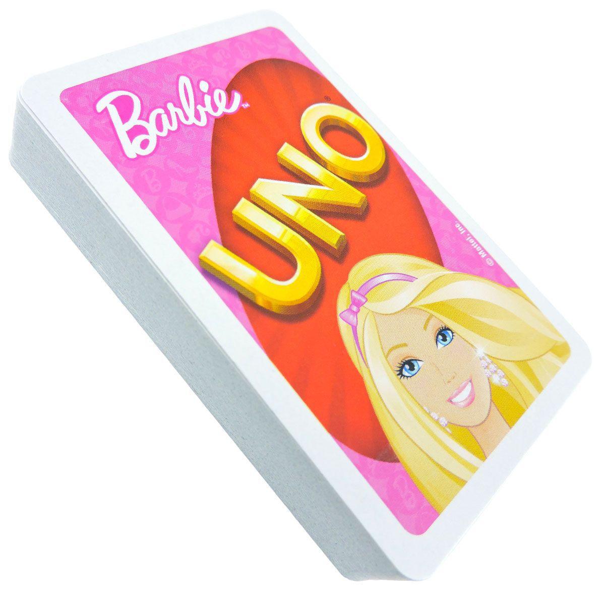 Uno Barbie e Rouba Monte Tinker Bell Coleção com 2 jogos Mattel Disney