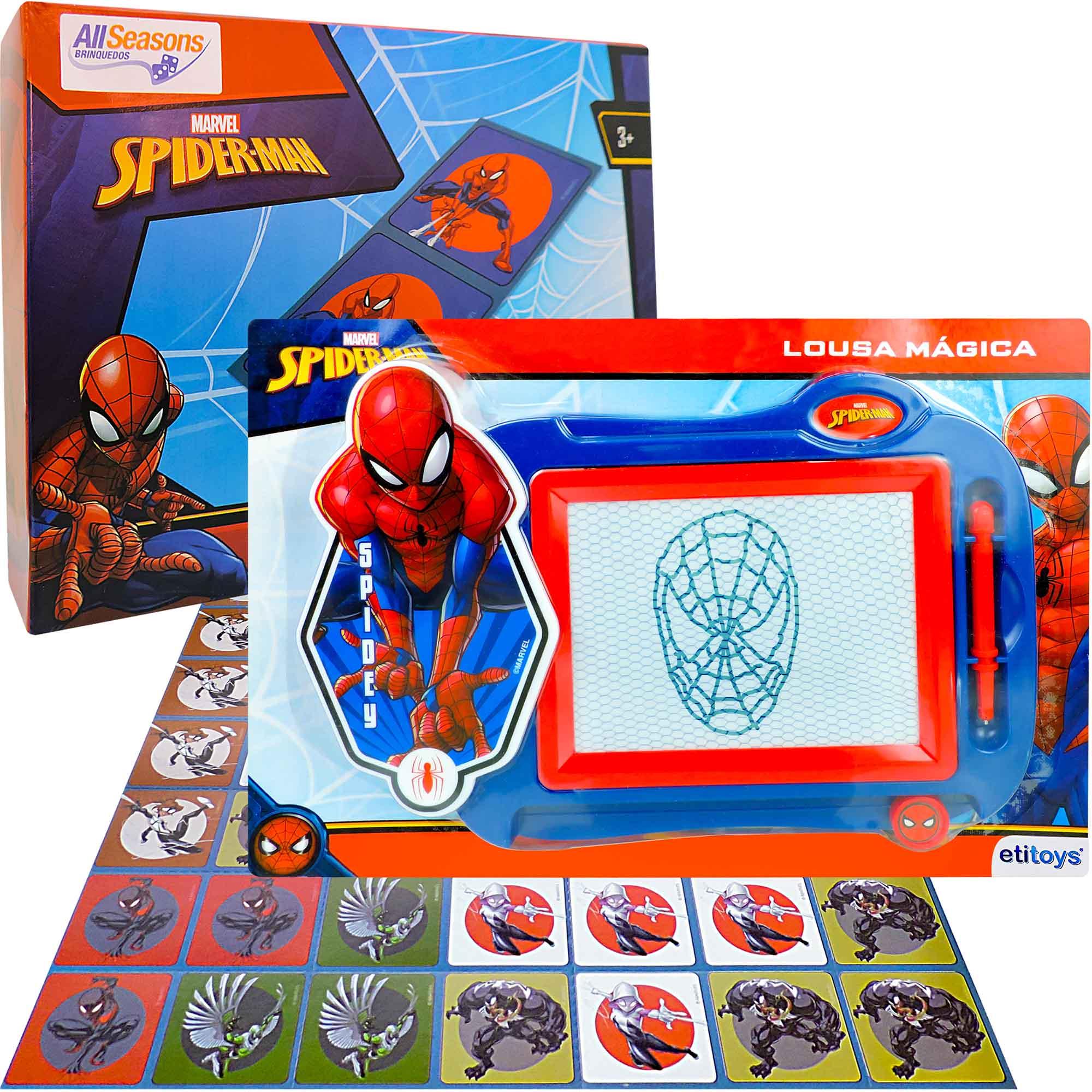 Lousa Mágica Homem-aranha Mais Dominó Cartonado Marvel