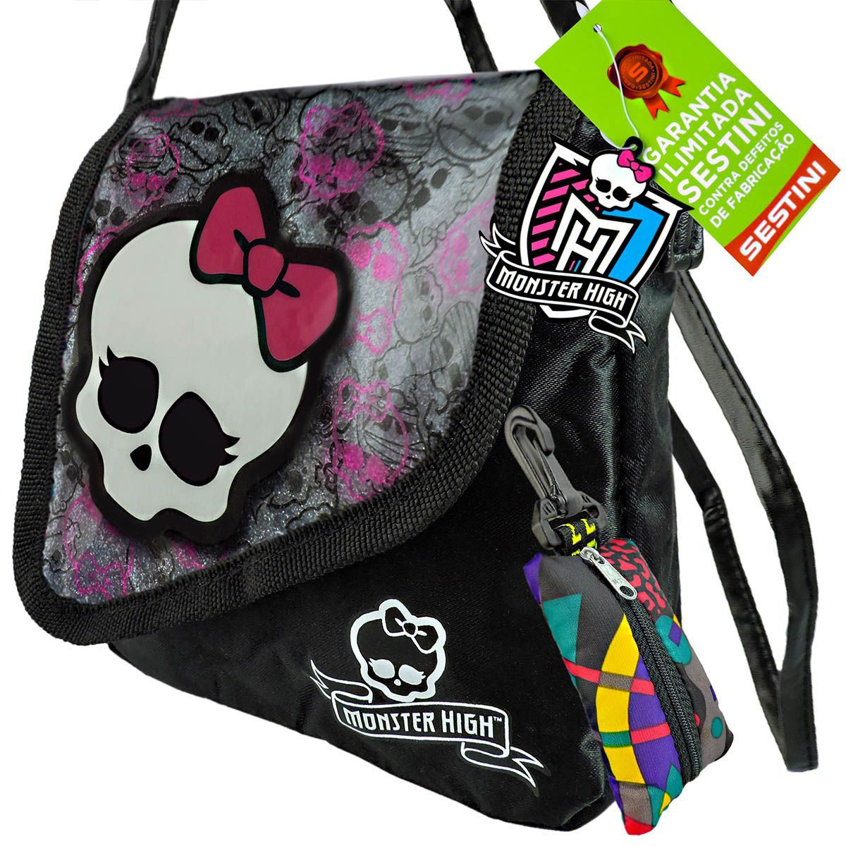 Monster High Bolsinha Skullete Sestini Mais Porta Moedas