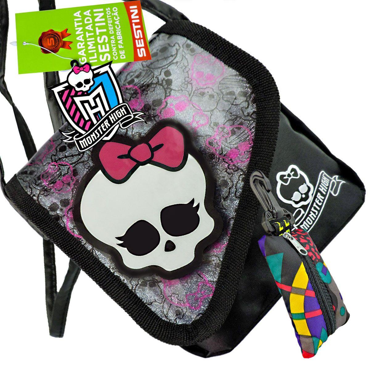 Monster High Bolsinha Skullete Sestini Mais Porta Moedas