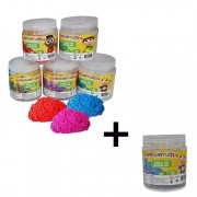 Kit Areia de Modelar Colorida Os Pequerruchos Leve 6 pague 5