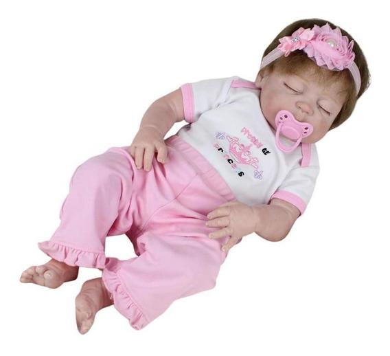 Boneca Bebê Reborn Laura Baby Ayla