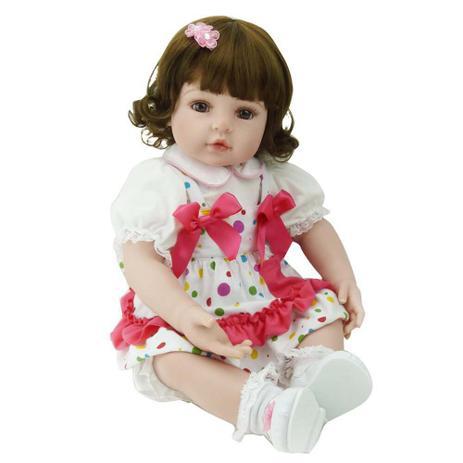 Boneca Bebê Reborn Laura Baby Isis