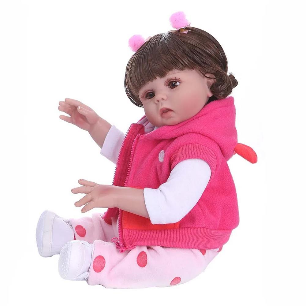 Boneca Bebê Reborn Laura Baby Michelle