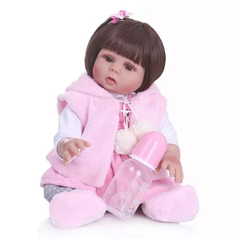 Boneca Bebê Reborn Laura Baby Paola