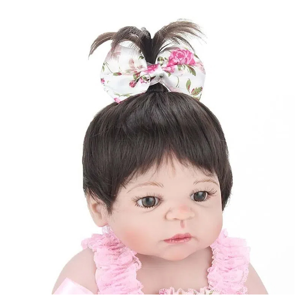 Boneca Bebê Reborn Laura Baby Pink Flower