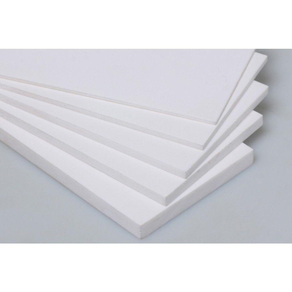 Chapa placa de PVC Branca expandido 2mm 50cmx50cm
