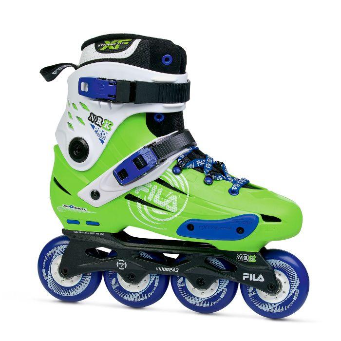 Combo Paizão Fila Skates Pro Green + Capacete NRK WHITE