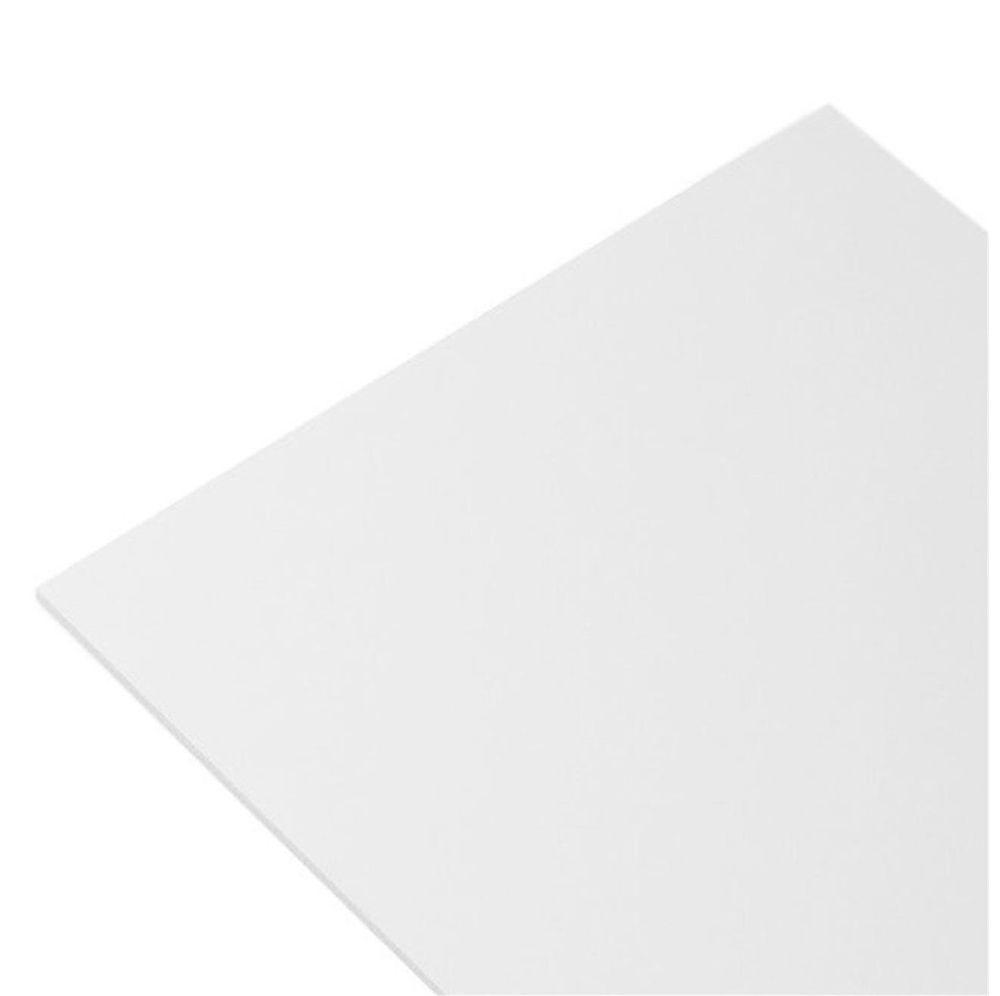 Kit 5 Chapas Placa De Pvc Branca Expandido 1mm 50cmx50cm