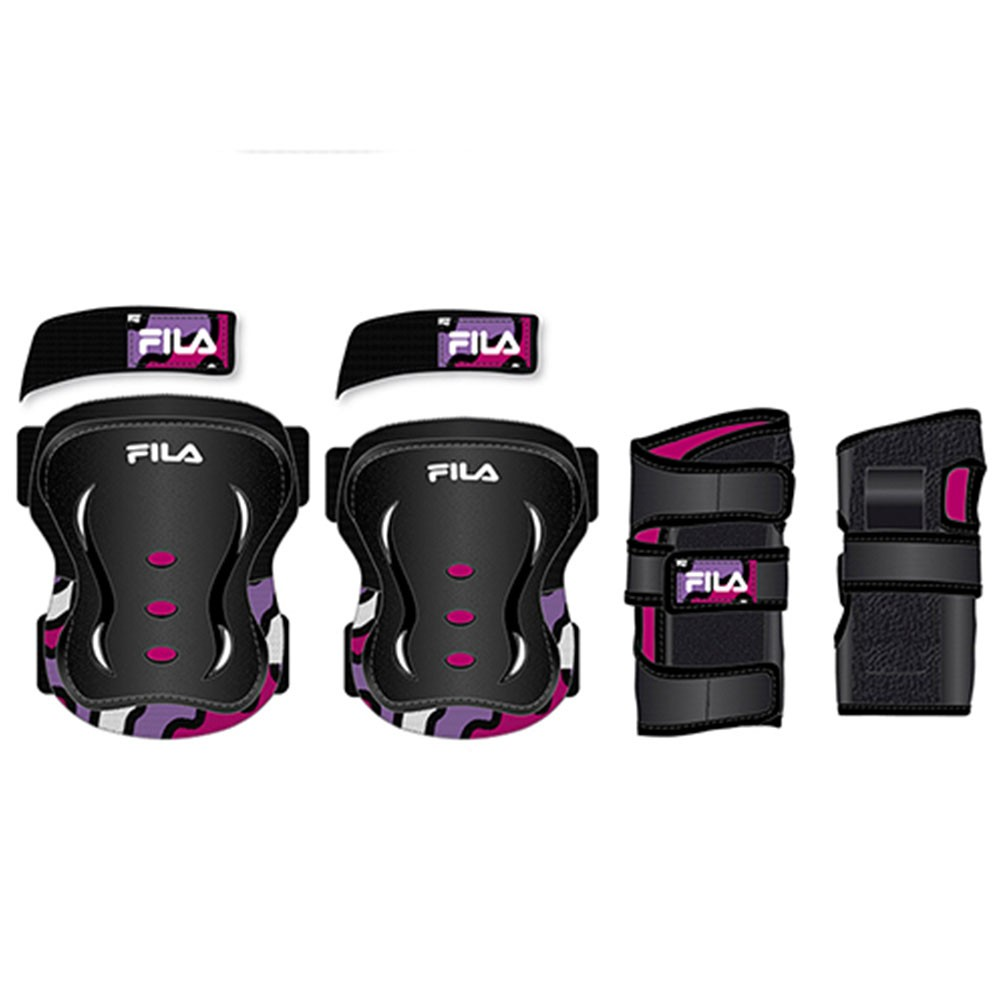 Kit de Proteção Fila Junior Girl FP Black/Pink