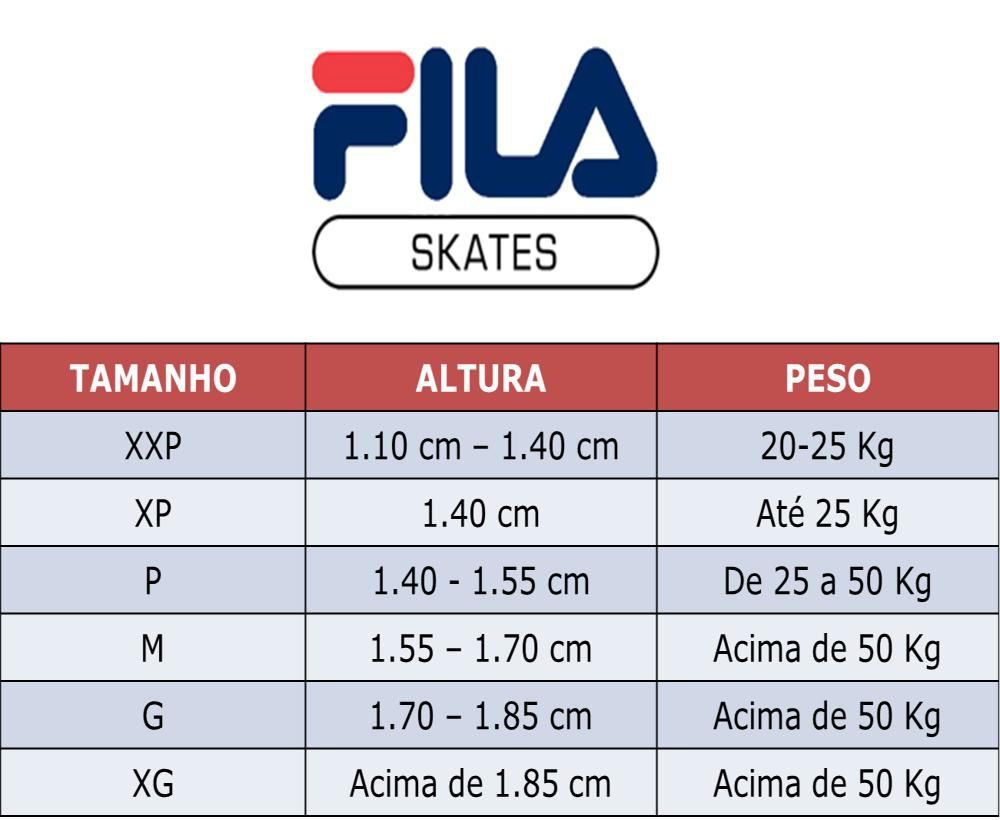Kit de Proteção Infantil Fila Fitness FP Girl Preto/Cinza