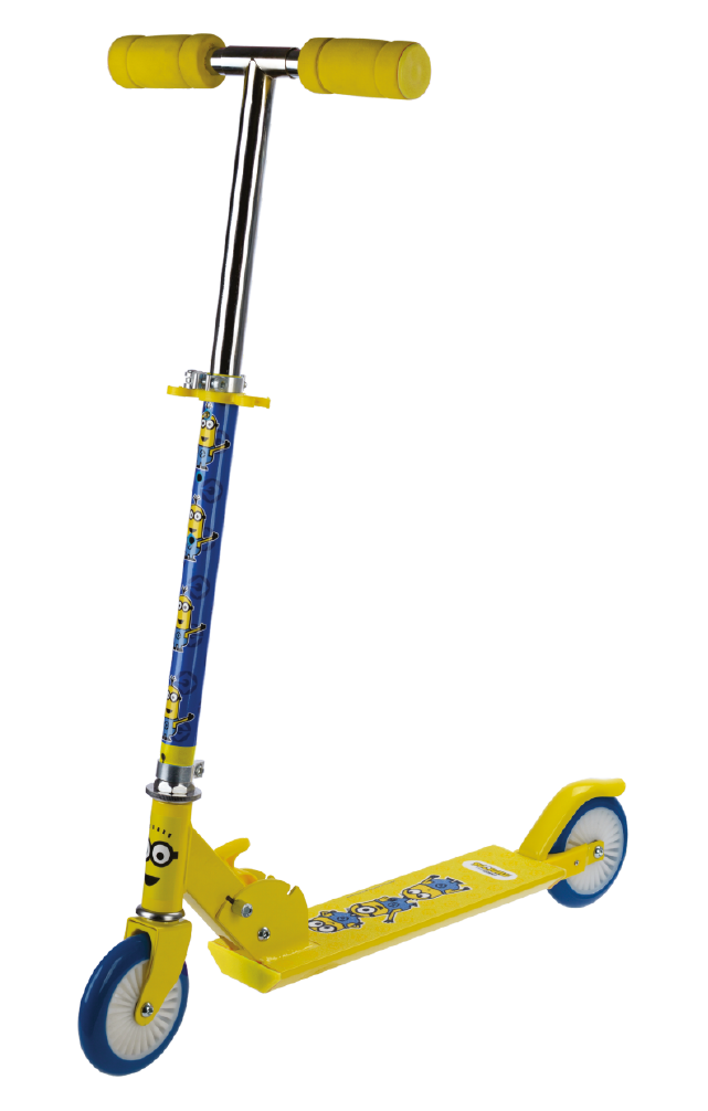 Patinete  Minions 2 rodas - Com ajuste de altura
