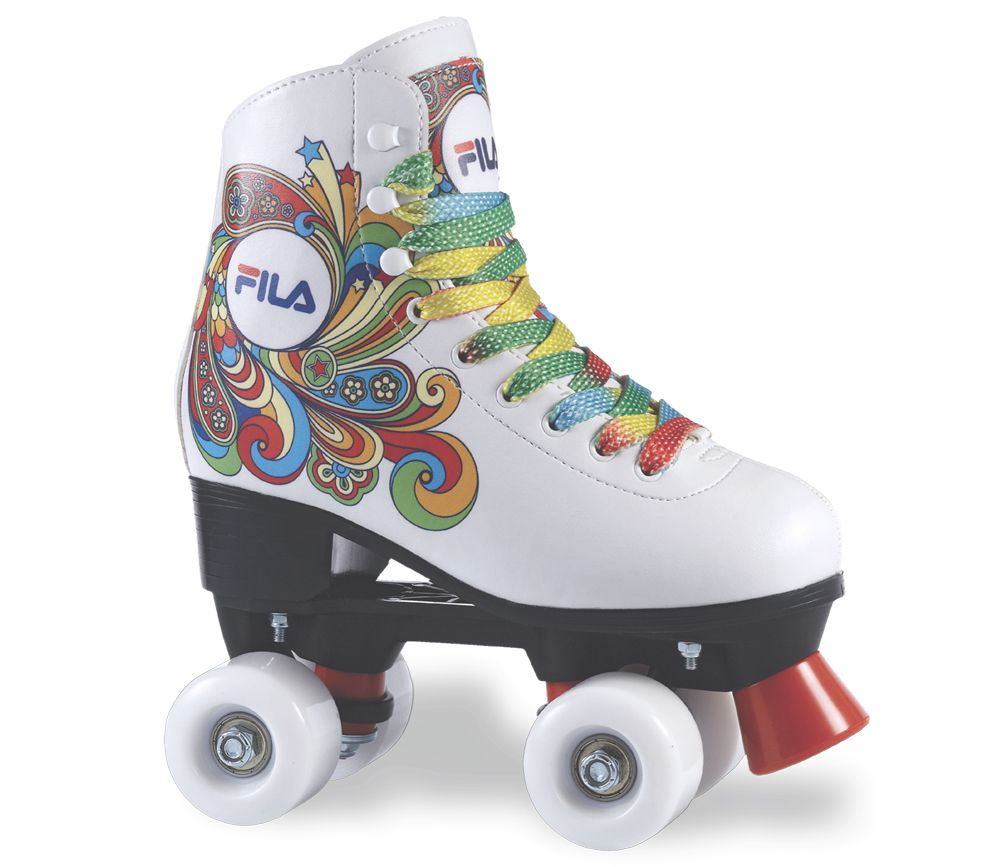Patins Infantil Quad Tradicional Bella White - Fila Skates