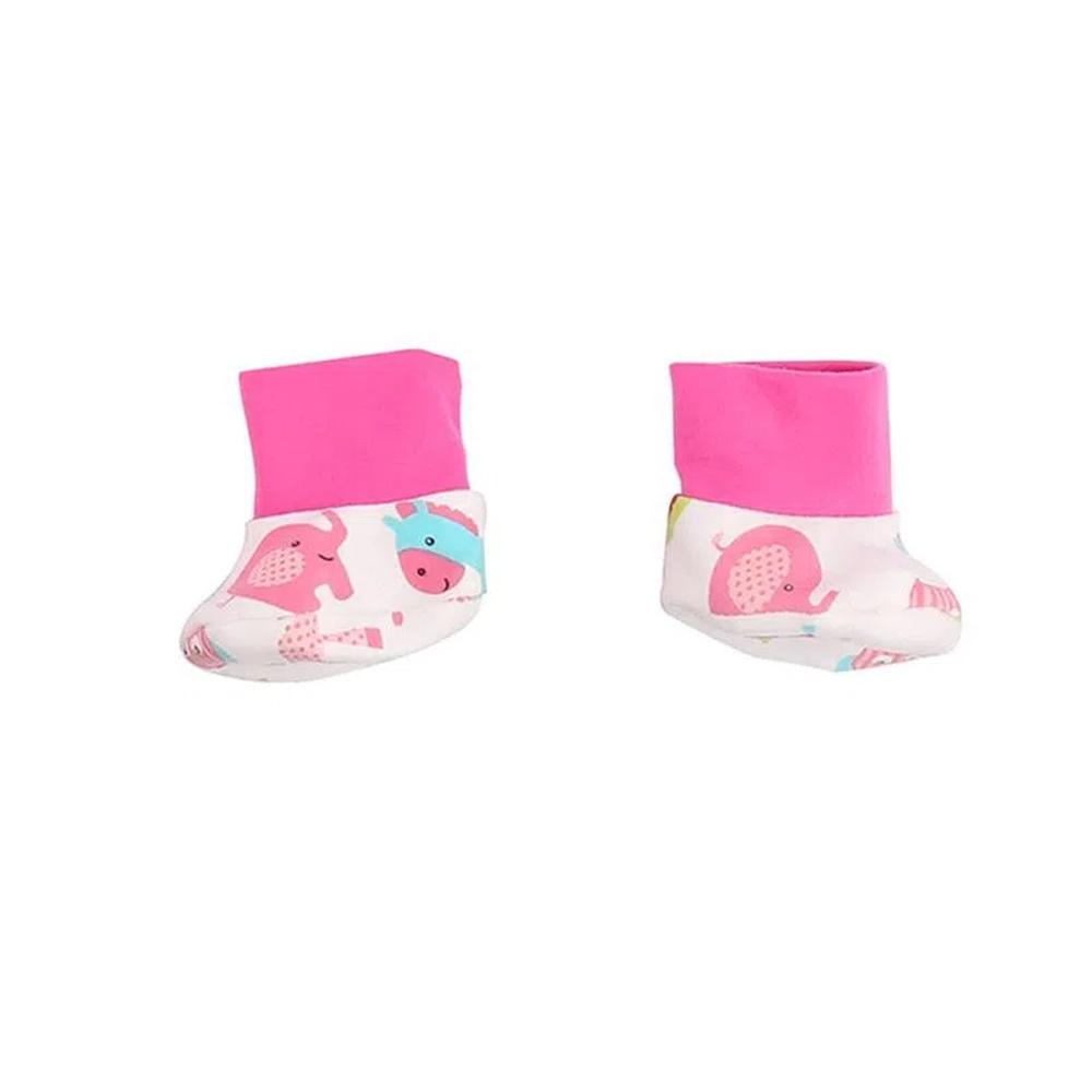 Roupa Para Boneca Bebê Reborn Com Casaco Rosa