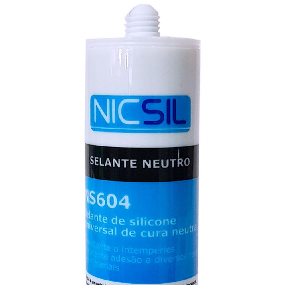 Silicone (Selante) Neutro Nicsil Incolor
