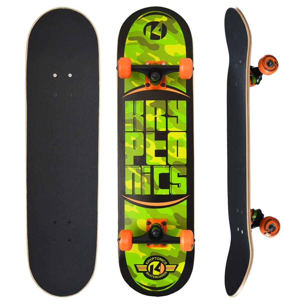Skate Pro Completo Kryptonics Camo Maple 7 Camadas