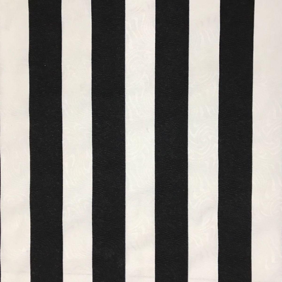 Tecido Jacquard Estampado Preto e Branco Listrado 1 40m de  ~ Quarto Preto E Branco Listrado
