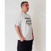 Camiseta Karate Evolution Branca ou Preta com estampa na frente
