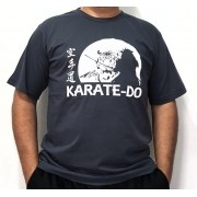 Camiseta Karate Samurai CInza