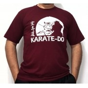 Camiseta Karate Samurai Vinho