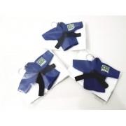 Mini Kimoninho Judo Brasil Azul Combo 3 unidades