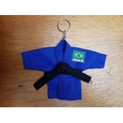 Mini Kimoninho Judo Branco ou Azul c/corrente e argola