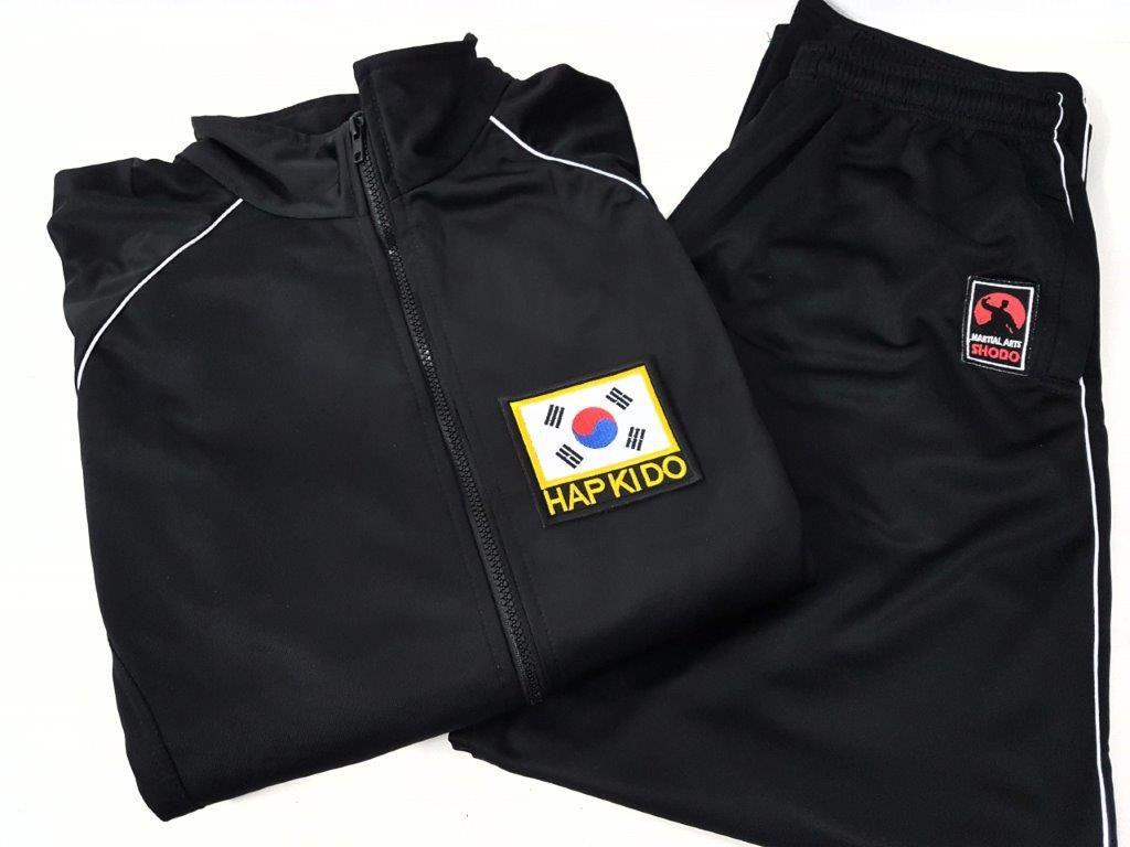 Agasalho Hapkido Korea Martial Arts Shodo Cores: Preto ou Azul escuro
