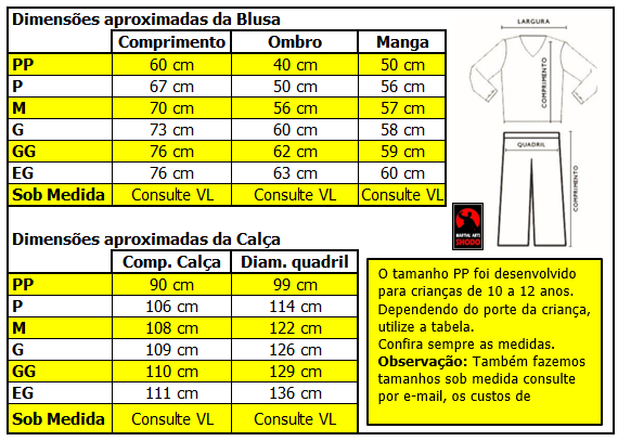 Agasalho Karate Brasil Martial Arts Shodo nas cores: Preto ou Azul escuro