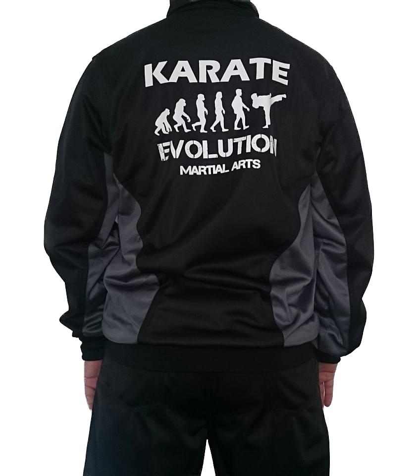 Agasalho Karate Japão Evolution Preto/Cinza