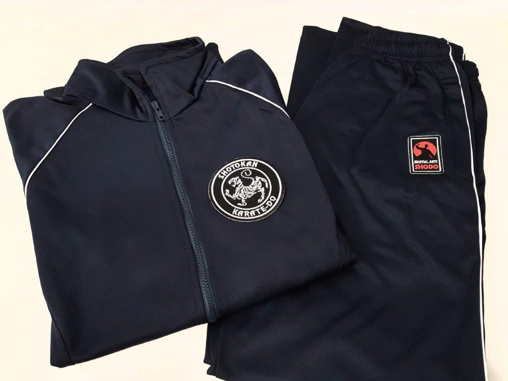 Agasalho Karate Shotokan Martial Arts Shodo nas cores: Preto ou Azul escuro