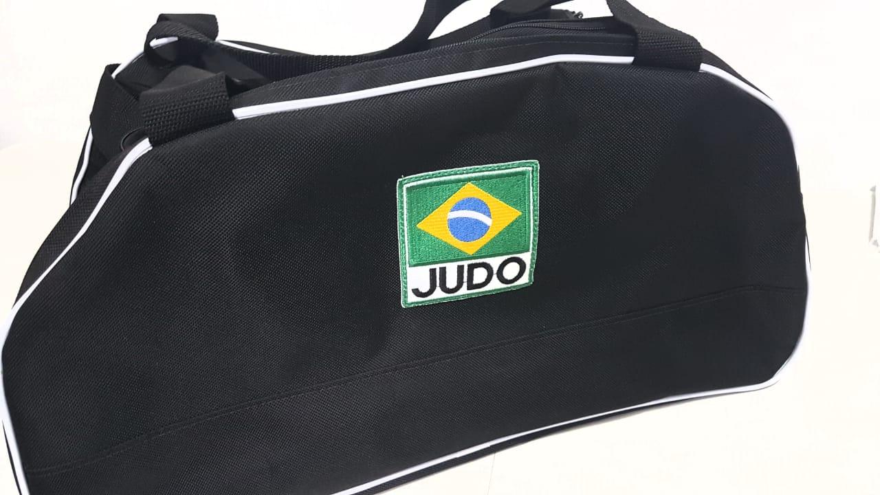 Bolsa Evolution Judo Brasil -  Preta friso branco