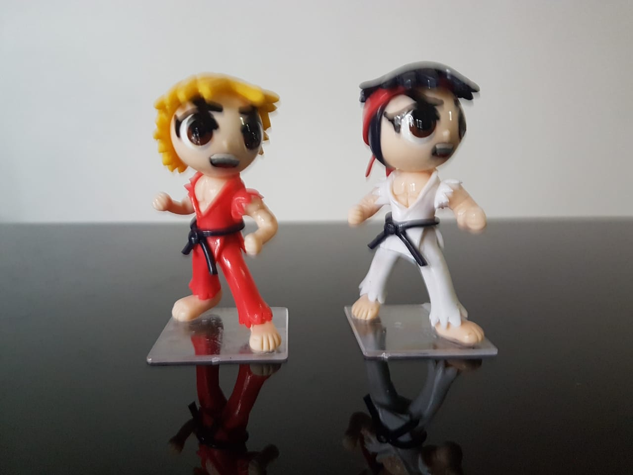 Bonecos em Biscuit Ken  e Ryu Street Figther Tamanho 8,5 cm