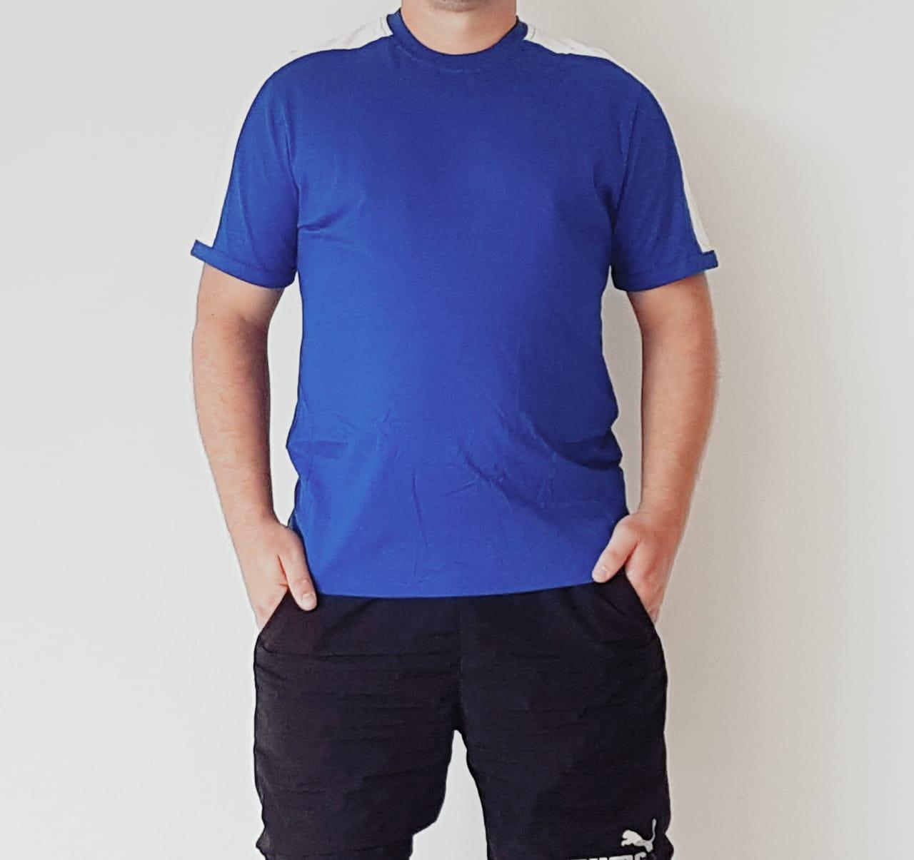 Camiseta Karate Evolution Azul estampa nas costas