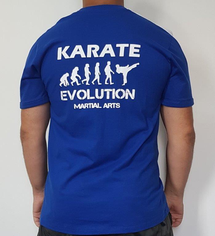 Camiseta Karate Evolution estampa nas costas