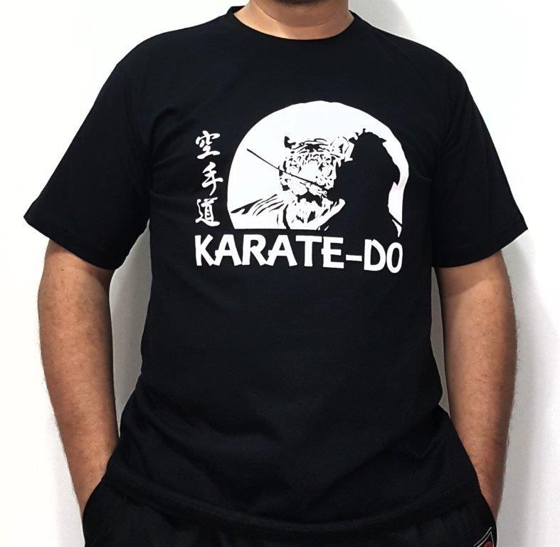 Camiseta Karate Samurai Preta
