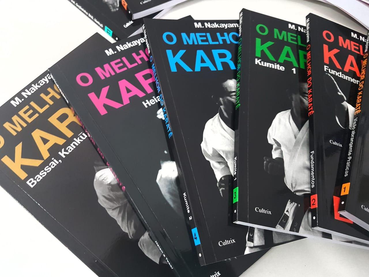 Coleção com 11 Livros Da Série Melhor Do Karatê (O) + 1 Livro Karate Dinamico M Nakayama +Brinde chaveiro faixa preta